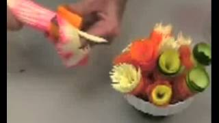 Карвинг Украшение стола овощами и фруктами  Карвинг Украшение стола овощами и фруктами  flv