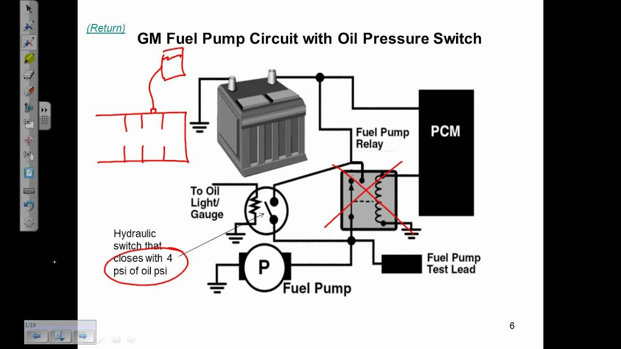 fuel pump electrical circuits description and operation 1994 chevy 1500 fuel pump wiring diagram fuel pump circuit tests (ford 4 9l