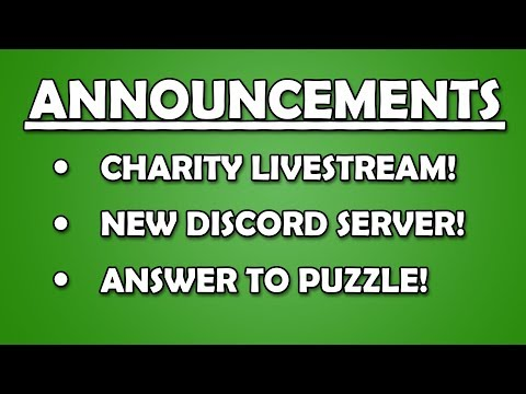 CHARITY STREAM, DISCORD, AND PUZZLES, OH MY!!!
