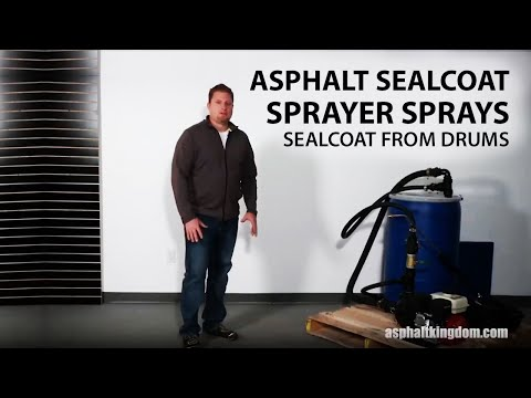 Asphalt Sealcoat Sprayer Sprays Sealcoat From Drums