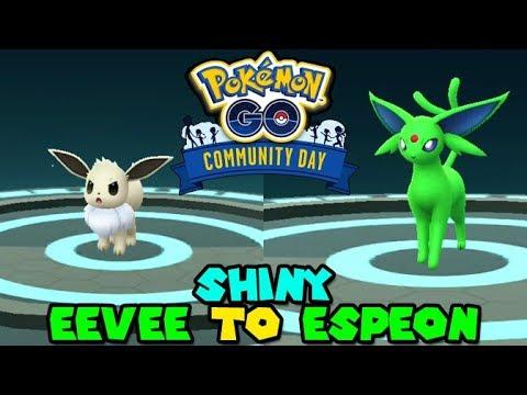 HOW TO GUARANTEE SHINY EEVEE to SHINY ESPEON EVOLUTION IN ...