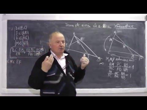 Lectia 844 - Teorema lui Menelaus folosita pentru a arata coliniaritatea unor puncte - Tema Clasa 7