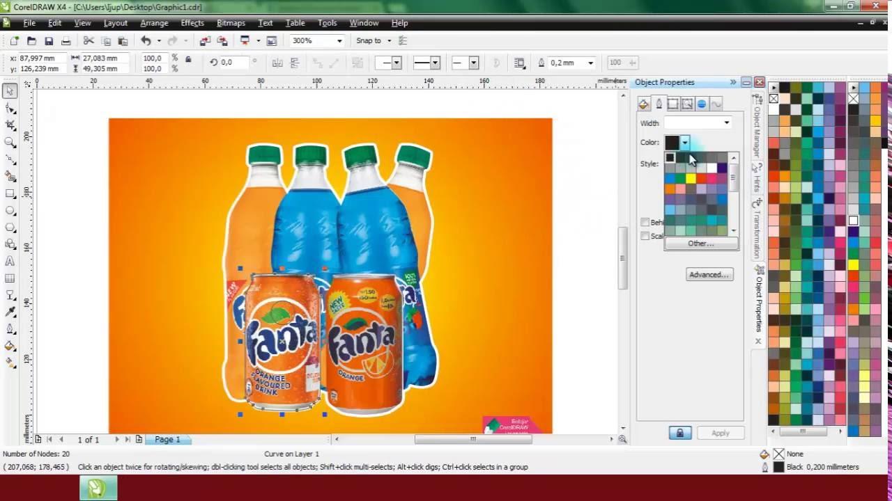 Cara Menambahkan Outline Putih Pada Pinggiran Foto Menggunakan CorelDRAW X4