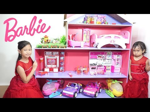 BARBIE DOLL HOUSE 💖 Mainan Anak Rumah Rumahan BARBIE Cantik Banget Jessica Jenica