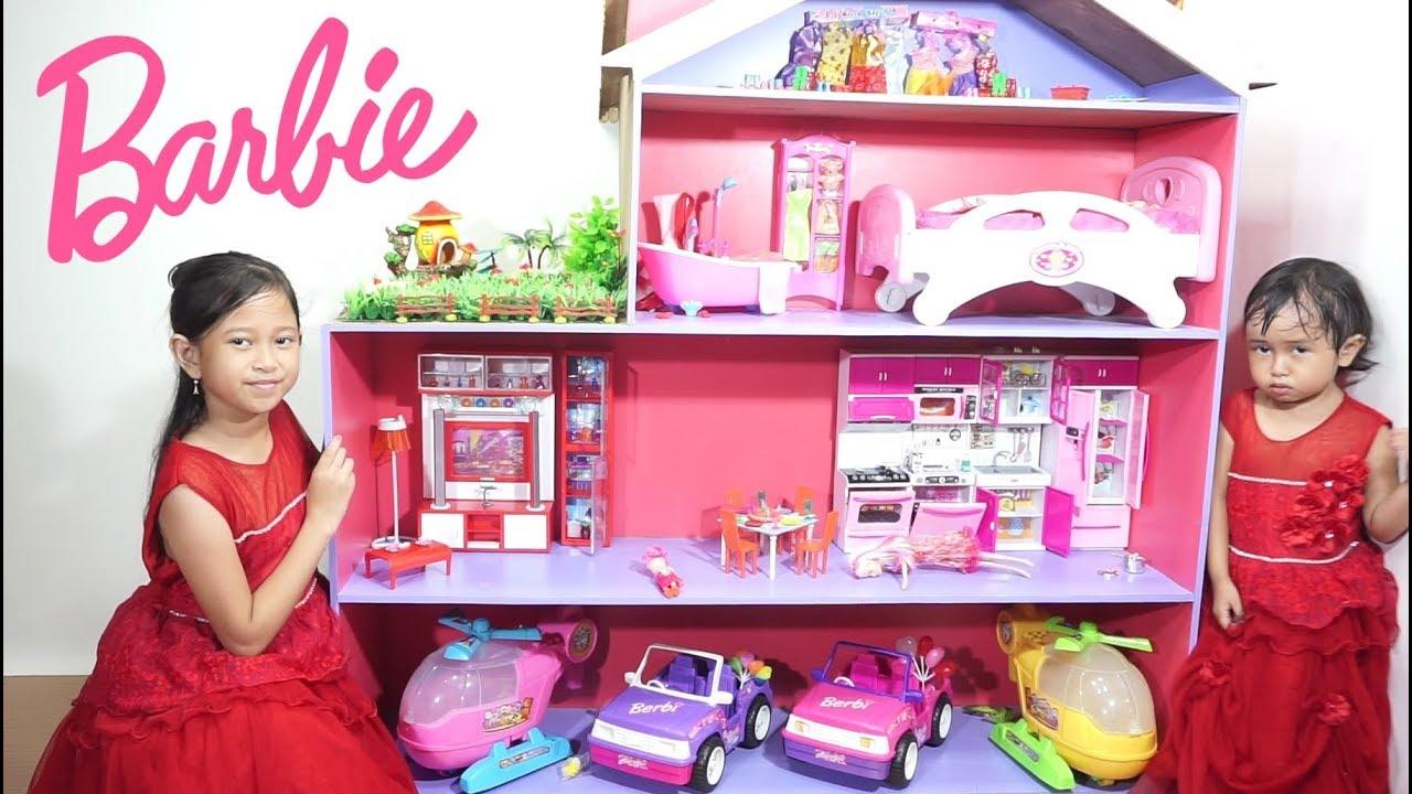 Barbie Doll House Mainan Anak Rumah Rumahan Barbie Cantik Banget Jessica Jenica Youtube