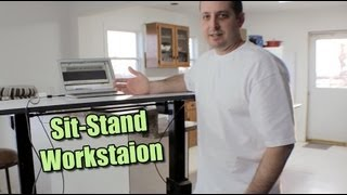 Burn Calories While Working - Standing Desk by Ergotron