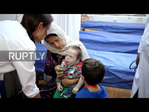 Iraq: Mosul refugees arrive at Sulaymaniyah refugee camp