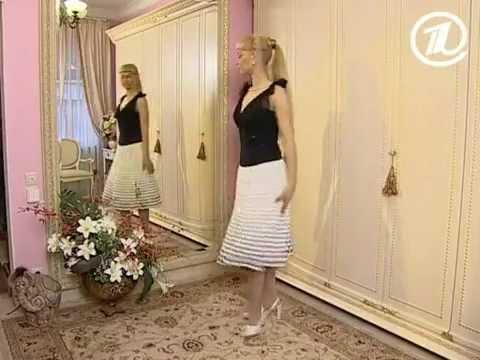 1060 Темно-зеленая плиссированная юбка из кожезаменителя - YouTube
