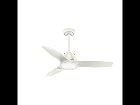 """Casablanca Fan Company 59286 Wisp Room 44"""" Ceiling Fan with Light with Handheld Remote, Small"""