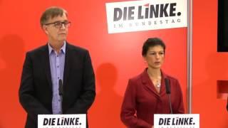 Sahra Wagenknecht und Dietmar Bartsch: Bomben werden keinen Frieden schaffen