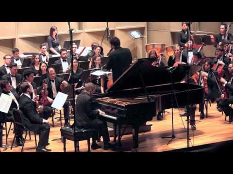 Matthieu Cognet, piano -Burleske in D minor (Strauss)- Stony Brook Symphony Orchestra