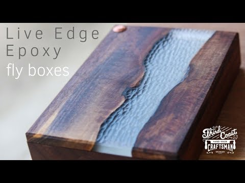 Live Edge Epoxy River Fly Boxes // Woodworking // Fly Fishing How To