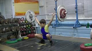 Шумихин Артур, 12 лет, собст  вес 31 8 Рывок 26 кг