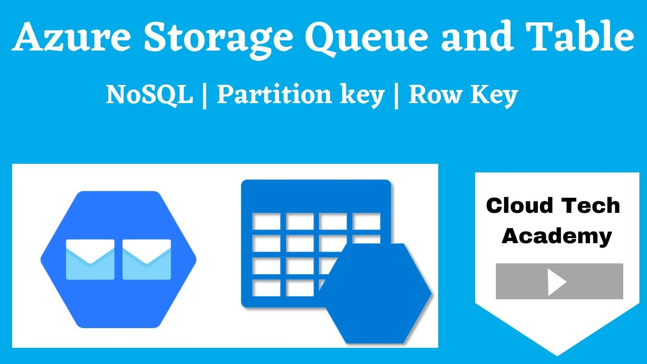 Azure Storage Queues and tables explained  NoSQL | Partition key | Row Key