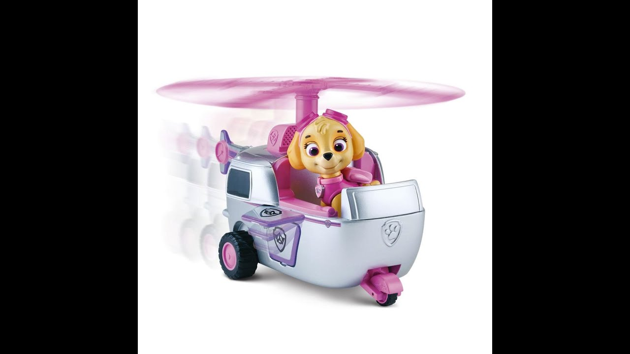 paw patrol la pat 39 patrouille skye h licopt re figurine jouet youtube. Black Bedroom Furniture Sets. Home Design Ideas