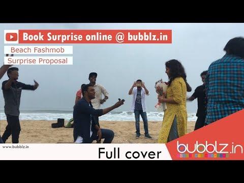 Surprise Proposal In Chennai   Beach Flashmob   Professional Team   Bubblz.in