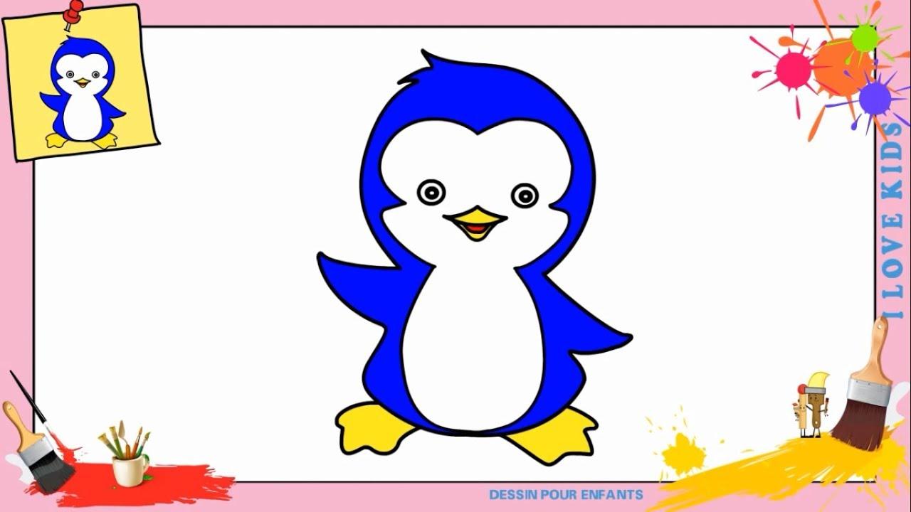 Coloriage Pingouin Kawaii.Dessin Pingouin 3 Kawaii Facile Comment Dessiner Un Pingouin