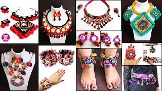 12 Handmade Navratri Jewelry Making !! Necklace, Baloya, Finger ring |DIY Traditional Ornaments idea