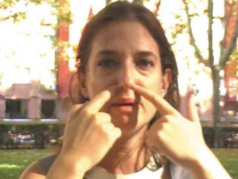 Truco para congestion de nariz con masaje