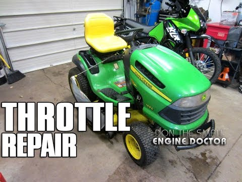 John Deere Throttle  Choke Assembly Replacement On 155C Lawn