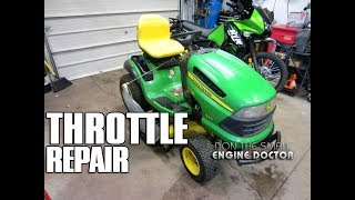 John Deere Throttle & Choke Assembly Replacement On 155C Lawn Tractor