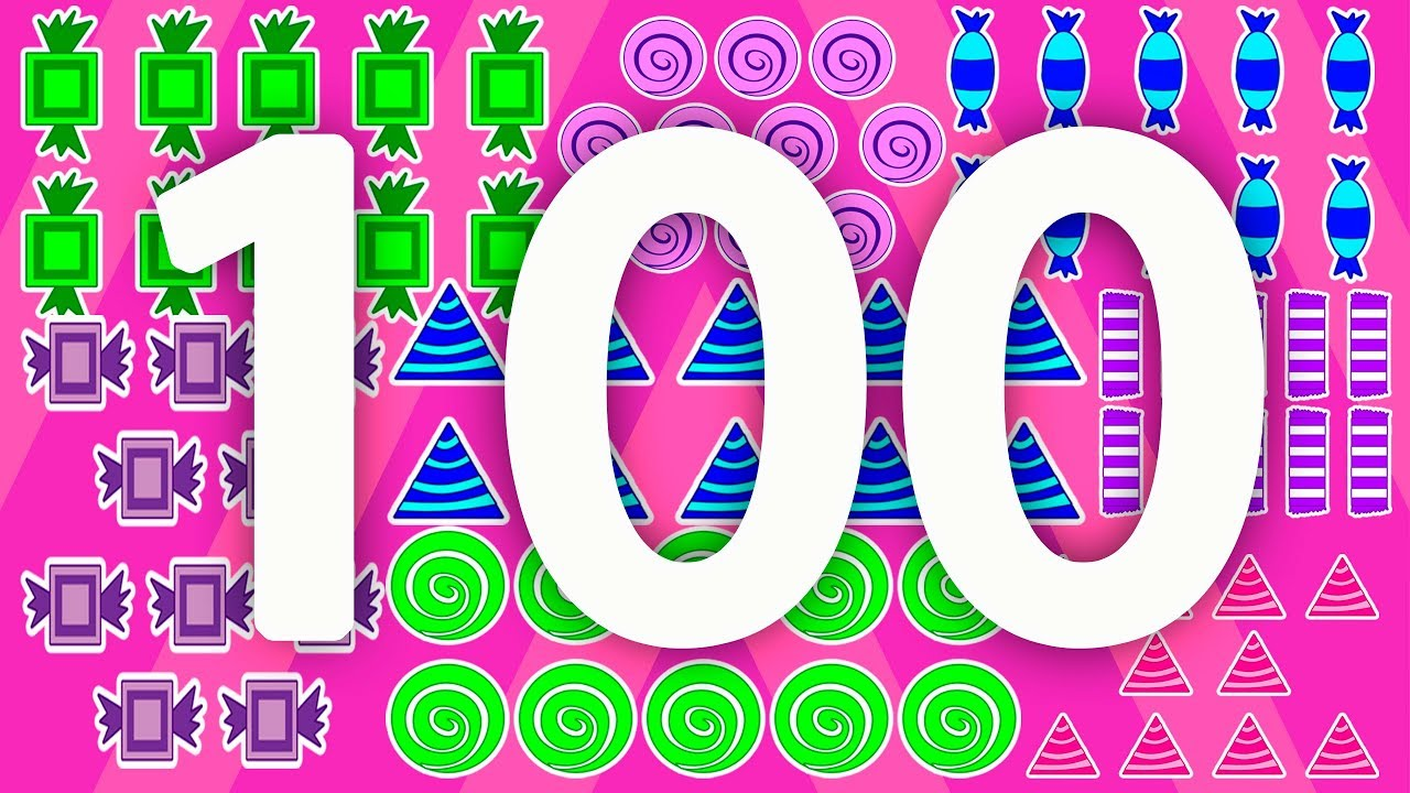 count to 100 with candy u2013 fun kids animated counting to 100 video