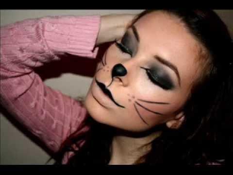 Kitty Cat makeup for halloween (Photos) - YouTube