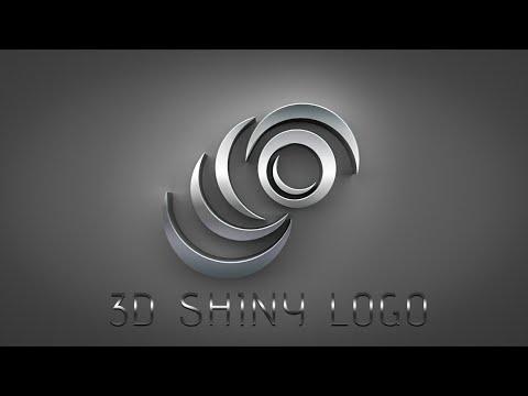 Photoshop Tutorial   How to make 3D logo design Metal