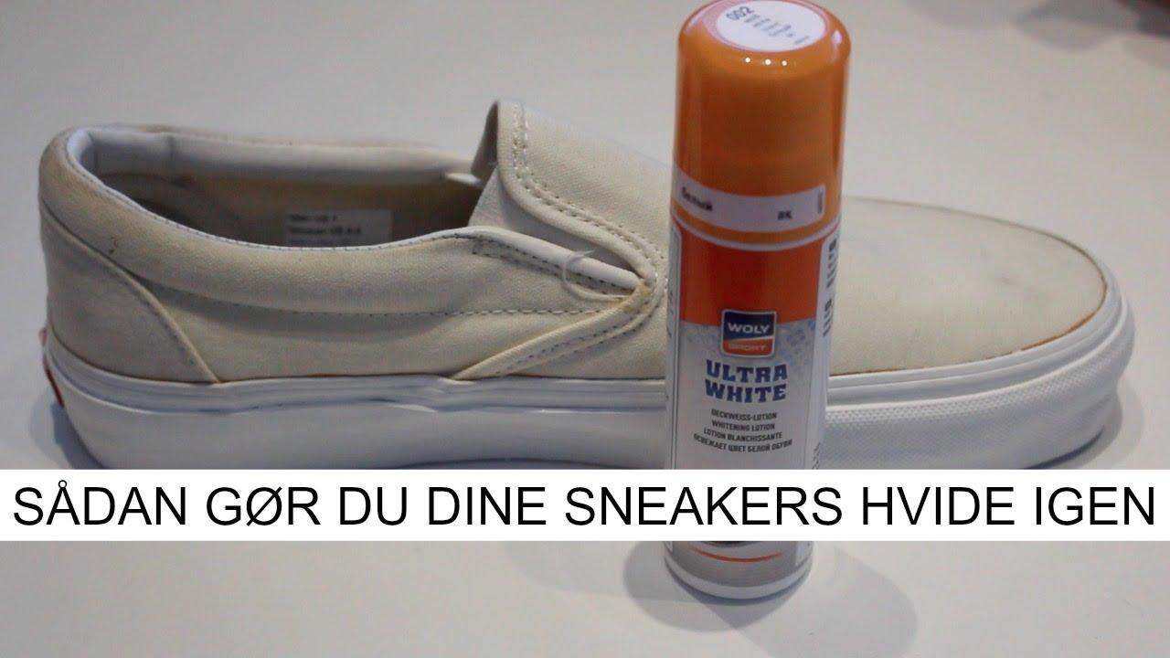 gør hvide sko hvide igen