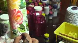 Pintura no Vidro a Mão Livre