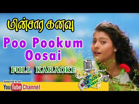 Poo Pookum Osai | KARAOKE | | Minsara Kanavu | LYRICS In The Description |