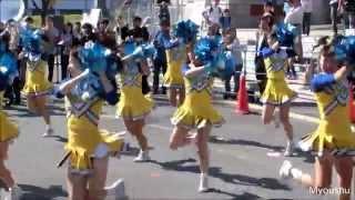 2014年10月26日、大阪マラソン2014にて関西大学応援団バトン・チアリーダー部HELIOSによるランナーに向けての応援の様子を撮影しました。