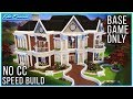 Sims 4 Speed Build - Base Game Mansion | Kate Emerald
