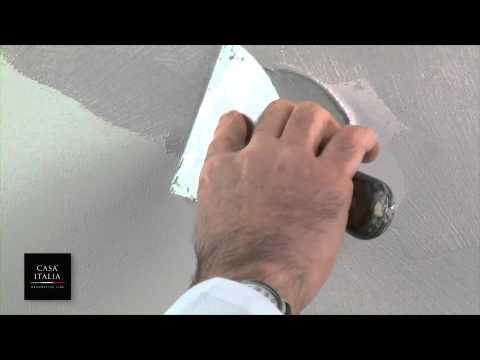 Ucic bianca argento vulcano effetto spatolato youtube for Parete bianca con glitter argento