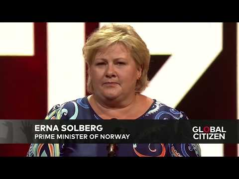 Erna Solberg Commits $85M to Women's Health at Global Citizen Festival Hamburg