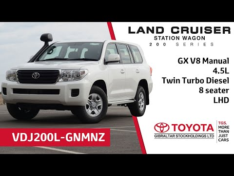 Toyota Land Cruiser 200 Series GX V8 (manual) - 4.5L Twin Turbo - 8 seater - LHD