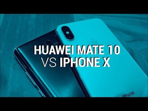 Huawei Mate 10 vs iPhone X