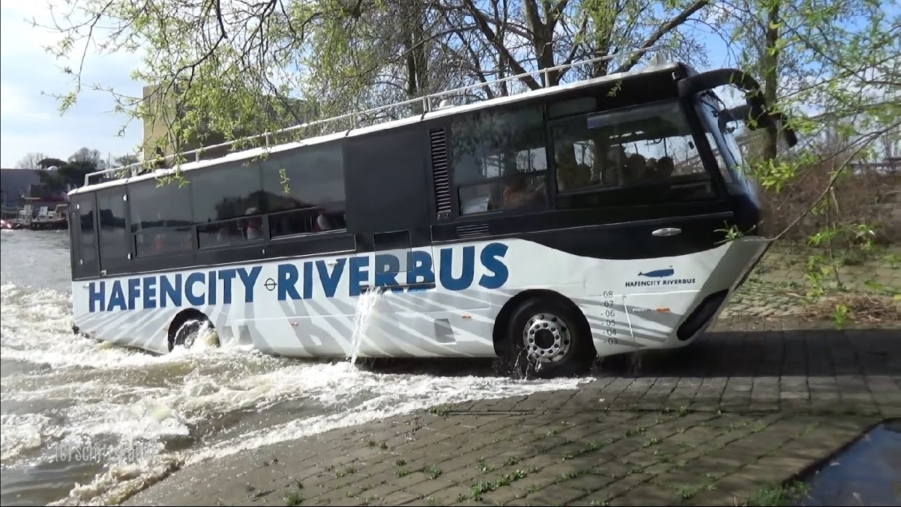 hafencity riverbus der schwimmende bus auf der elbe in. Black Bedroom Furniture Sets. Home Design Ideas