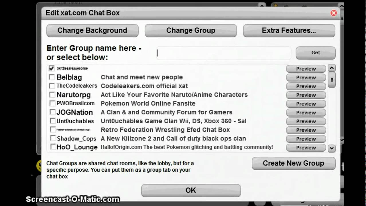 xat chat group