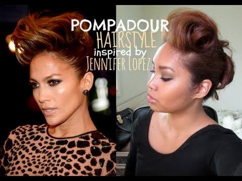 Jennifer Lopez Hair Tutorial Pompadour 2013 Met Gala Youtube