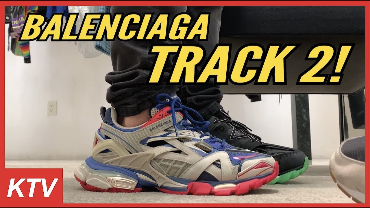 Balenciaga Track 2 On Foot Youtube