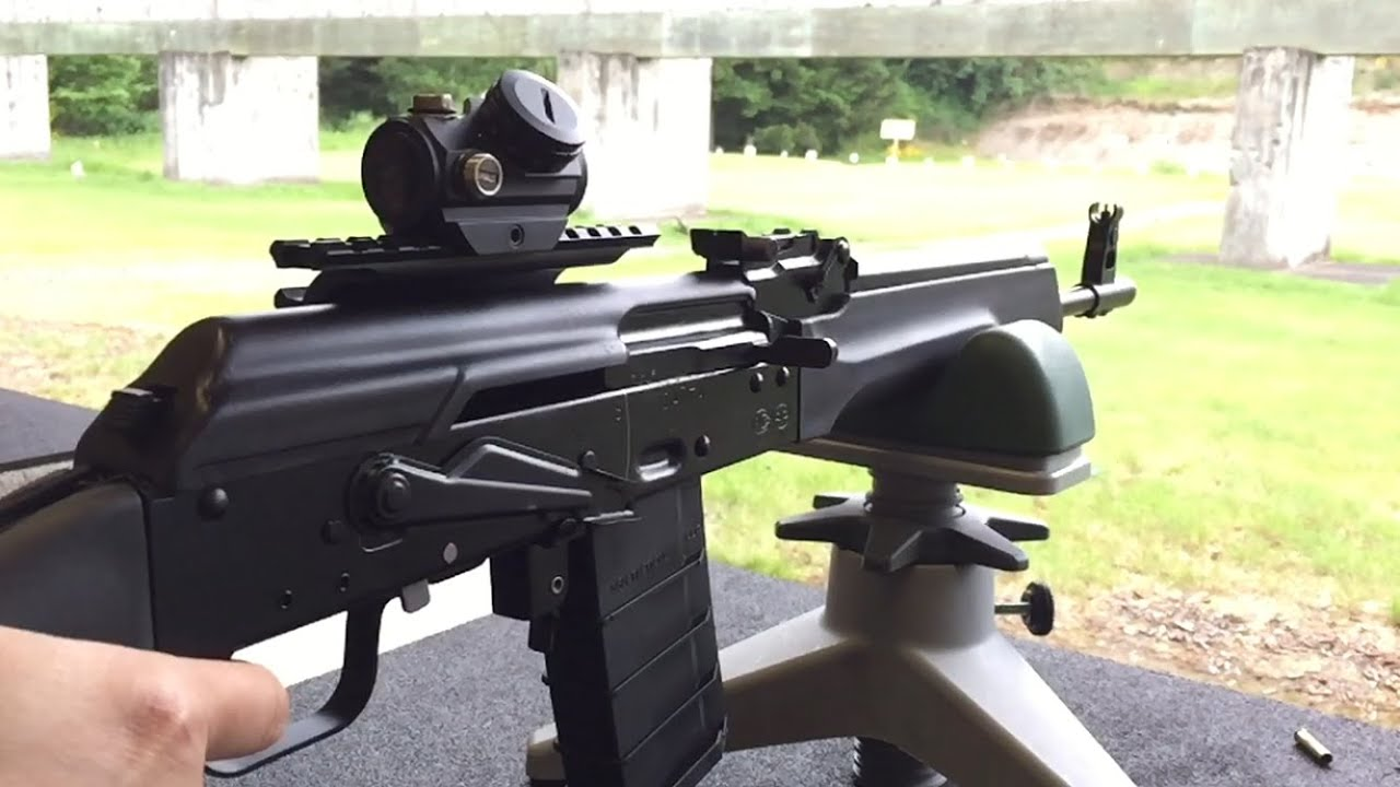 Saiga 223 - 100 Yard with Bushnell TRS-25 Red Dot