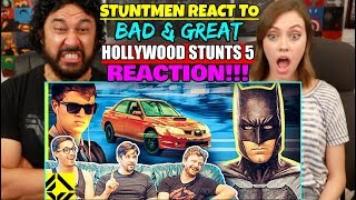 STUNTMEN React To Bad & Great HOLLYWOOD STUNTS 5 - REACTION!!!