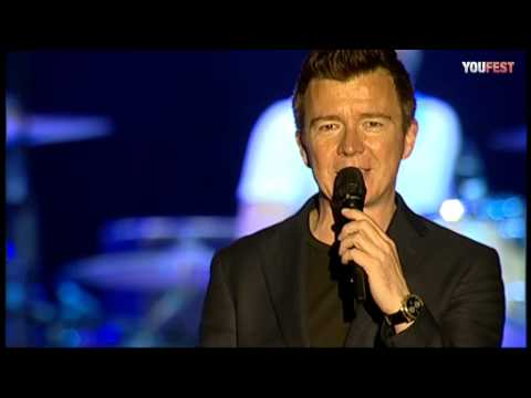Rick Astley - Never gonna give you up LIVE - YOUFEST 2012
