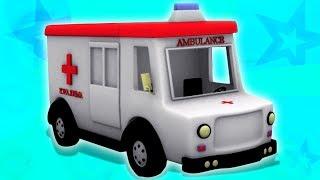 ambulanssi | ajoneuvon video | muodostumista ja käyttöä | Ambulance | Unbox Vehicles | Toy Vehciles