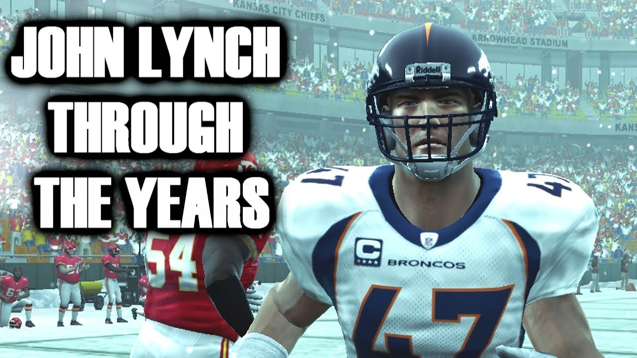 JOHN LYNCH THROUGH THE YEARS - MADDEN 97 TO MADDEN 09