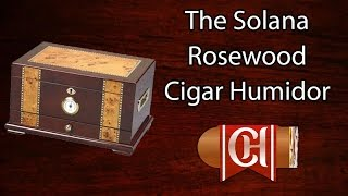 The Solana Rosewood Cigar Humidor