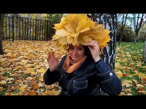 Как плести венок из листьев клена на голову