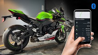 Connected Kawasaki Zx10R with a Smartphone !!!