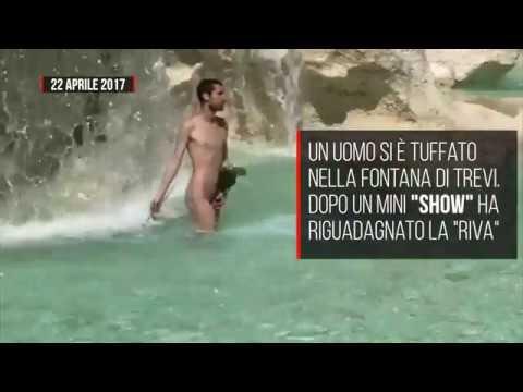 Nudo nella Fontana di Trevi, multa da 450 euro